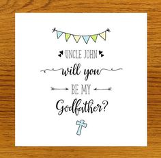 Personalised Will You Be My Godfather Card by LittleMushroomCards