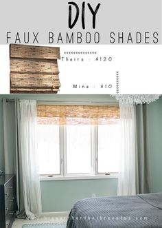 These DIY Bamboo Shades are so easy to make! Layer them with curtains and instantly give your room texture. The best thing is they only cost about $10!