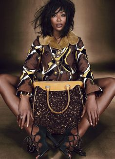 LUXE BE A LADY | Naomi Campbell |  Emma Summerton #photography | W Magazine