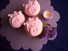 Cupcakes cerditos de fresa