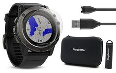 WHAT'S INCLUDED? -Garmin fenix 5X Sapphire (Slate Gray with Black Band) Multi-Sport GPS Training Watch -Tempered Glass Screen Protector (.33mm) -PlayBetter 2200mAh Portable Charger (provides 2+ full charges) -PlayBetter Protective Hard Case -USB Charging Cable -User Manual ABOUT THE GARMIN... more details available at https://perfect-gifts.bestselleroutlets.com/gifts-for-holidays/electronics/product-review-for-garmin-fenix-5x-sapphire-slate-gray-with-black-band-bundle-wi