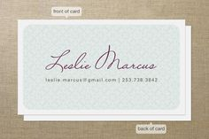 Hello Patterns Business Cards by Alethea and Ruth at minted.com Kindergarten Expert