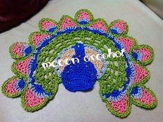 Peacock doily