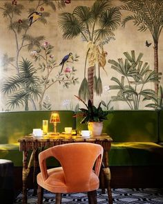 This is what happens when fashion's favourite new label teams up with legendary wallpaper designers | Vogue Living