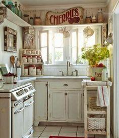 decoración cocina shabby chic
