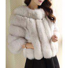 Cozy faux fur jacket for glam style. #fauxfur