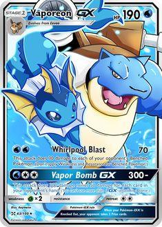 Vaporeon GX Custom Pokemon Card