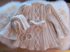 Ravelry: Cosy Cables Baby Matinee Set Jacket and Hat pattern by Hampton Towers