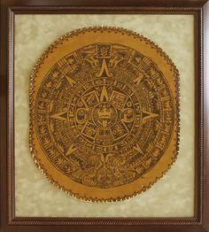 Original Leather Artwork framed on suede matting. Designed and custom framed at Art & Frame Express in Edison, NJ.
