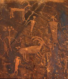 petroglyphs from Desert Culture in AZ