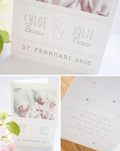 Geboortekaartje-tweeling-meisjes