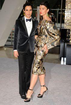 2012 CFDA Awards - I love the mod Obi fabric!
