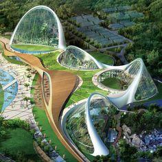 Located in the mountainous landscape of Gyeongju, South Korea, the Korea Hydro Nuclear Power Headquarters