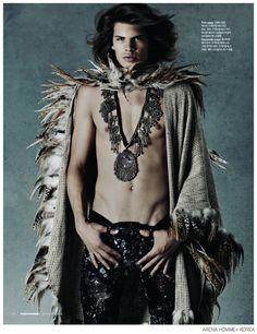 Cameron Keesling is a Modern Day Jim Morrison for Arena Homme+ Korea image Cameron Keesling Arena Homme Plus Korea 002