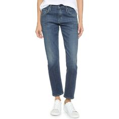 Citizens of Humanity Emerson Slim Boyfriend Ankle Jeans (2.185.890 IDR) ❤ liked on Polyvore featuring jeans, el dorado, short pants, zipper jeans, citizens of humanity jeans, citizens of humanity boyfriend jeans and slouchy boyfriend jeans