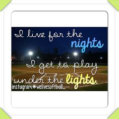 I've played softball 9 years and still can't wait till summer to go out there and play!⚾❤