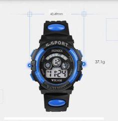 Jam Tangan Quartz Digital LED Alarm dan Kalender Tahan Air Untuk Pria 912e6dc45c