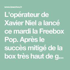 L'opérateur de Xavier Niel a lancé ce mardi la Freebox Pop. Après le succès mitigé de la box très haut de gamme Delta il y a dix-huitmois, Free veut revenir aux sources. La Pop sera disponible pour 30euros par mois la première année pour les nouveaux clients.