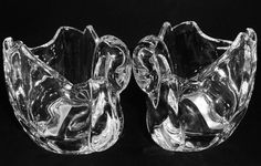 Crystal Swan Votives Shannon by Godinger Pair Measures about 4.5 inches long by 2.75 inches wide and 3 inches at tallest point Beautifully crafted swans of quality
