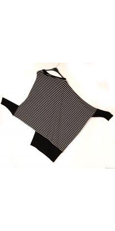 "Hebbeding Black & White Stripe ""Arctic"" Square Shirt - Hebbeding from I Dare To Be UK"