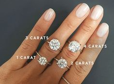 1-2 carats is perfect.