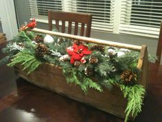 Old wooden toolbox Christmas idea