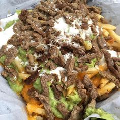 A family-run Mexican food restaurant in San Diego. Serving fresh tacos, burritos, carne asada fries and California burritos to our community is our passion. Carne Asada Fries, Mouth Watering Food, Appetizer Recipes, Appetizers, Food Goals, Food Cravings, Food Menu, I Love Food, I Foods