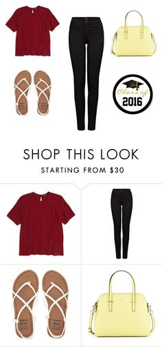 """""""High School Casual"""" by taylor-1097 on Polyvore featuring Topshop, J Brand, Billabong and Kate Spade"""