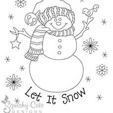 Embroidery Patterns Free Snowman Printable