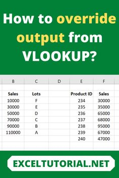 How to override output from VLOOKUP? . #Excel #microsoftexcel #Exceltutorial #Exceltutorials #Exceltutor #tutorialexcel #microsofttrainingexcel #microsoftexceltips #Excelformulas #Excelvba #Exceltips #Exceltipsandtricks #Excelvideo #Excelshorcuts Vlookup Excel, Microsoft Excel, Excel Formulas, Excel For Beginners, Software Apps, Ms, Windows, Technology, Learning
