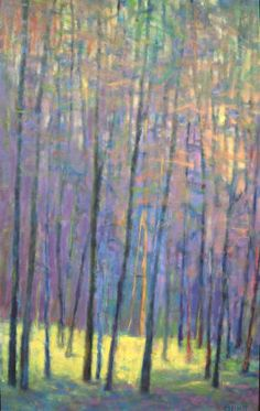 Ken Elliott Into the Forest oil on canvas 48 x 30 inchs