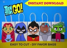 Check out our beast boy selection for the very best in unique or custom, handmade pieces from our costumes shops. Diy Birthday Party Favors, Party Favor Bags, Gift Bags, Birthday Centerpieces, Diy Party, Beast Boy, Pokemon Party Bags, Pokemon Birthday, 5th Birthday