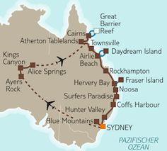 Sonnige Ostküste & Rotes Zentrum > Busundreise Australien