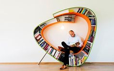 Functional And Relaxing Bookshelf Design By Atelier 010