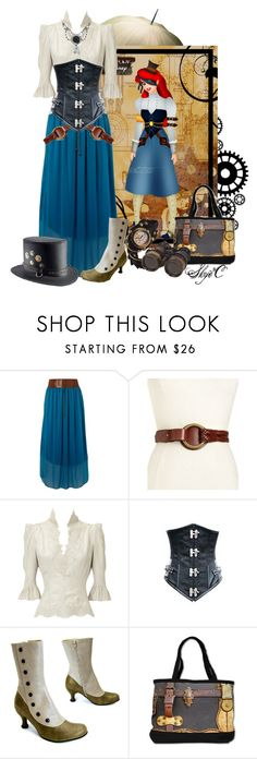 """Ariel - Steampunk - Disney's The Little Mermaid"" by rubytyra ❤ liked on Polyvore featuring Sodamix, Lauren Ralph Lauren, Chassè, disney, mermaid, ariel and steampunk"