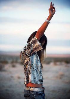 Shine #Bright sequin top