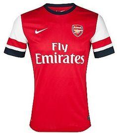 The official Arsenal home kit. 2013/2014 season.  ~ COYG
