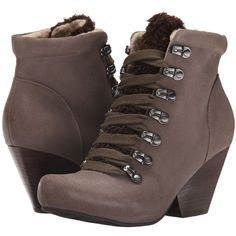 OTBT Ritchie (Dune) Women's Lace-up Boots (5.365 RUB) ❤ liked on Polyvore featuring shoes, boots, ankle boots, taupe, otbt boots, otbt shoes, lace up ankle boots, short lace up boots and taupe bootie