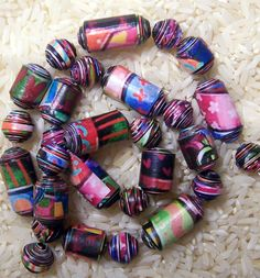Paper Beads- Leona-New Color   by PassionForPaperBeads