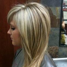 Heavy blonde highlights