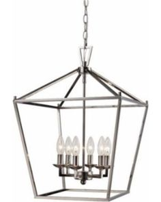 LRFY3262 Features Number of lights: 6 Open cage-style shade Fixture does not contain glass Chain included Vertical form Product Type: Foyer pendant Number of Lights: 6 Bulb Type: Incandescent Shade Material: Metal Material: Metal Damp, Dry, or Wet...