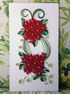 Floral em quilling Base para quadro medindo 18 x 32,5cm À venda por R$ 110,00
