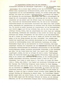 70 Jungenstimmen hallen durch die neue Herberge vom 19.01.1966