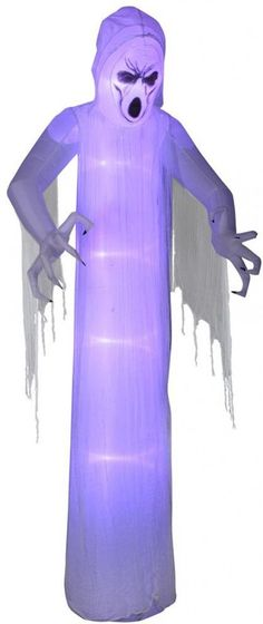 Halloween Yard Decor Airblown Inflatable Giant Beckoning Reaper - halloween lighted decorations