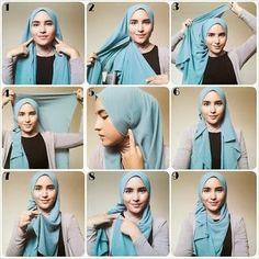tutorial jilbab paris