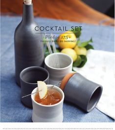 Hand crafted vessels for craft beverages.
