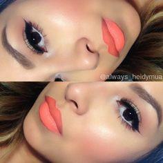 12 Mind-boggling Orange Lip Makeup Looks For 2014