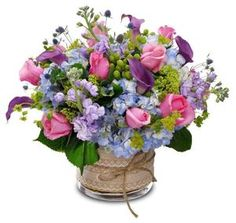 This gorgeous bouquet is filled with fragrant roses, stock, calla lilies, hydrangea and more. All clustered together to create a magnificent and luxurious design! Available for Same Day Local Delivery Available for Same Day National. Beautiful Flower Arrangements, My Flower, Silk Flowers, Spring Flowers, Floral Arrangements, Beautiful Flowers, Exotic Flowers, Fresh Flowers, Deco Floral