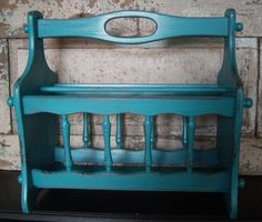 Love the color! Might have to take mine back from Lampert Smith! Cute Furniture, Chalk Paint Furniture, Diy Furniture Projects, Refurbished Furniture, Repurposed Furniture, Wooden Magazine Rack, Magazine Table, Magazine Racks, Diy Magazine Holder