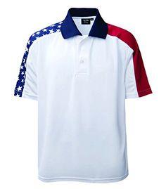 Akwa Men\u0027s Patriotic Polo Made in USA Akwa http://www.amazon.